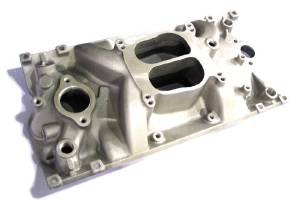Intake Manifold -Satin Cyclone, Chevy Small Block Vortec Heads (Non Egr) Photo Main