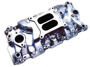 Intake Manifold -Polished Cyclone+Plus, Chevy Small Block (Non Egr) Photo Main