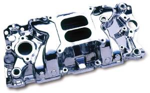 Intake Manifold -Polished Typhoon, Chevy Small Block (Non Egr) Photo Main