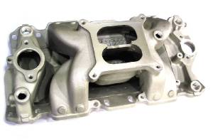 Intake Manifold -Satin Crosswind, Chevy Small Block Vortec Heads (Non Egr) Photo Main