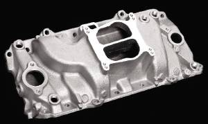 Intake Manifold -Satin Cyclone, Chevy Big Block (Oval Ports) Photo Main
