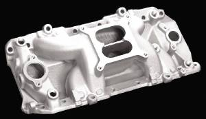 Intake Manifold -Satin Crosswind Manifold, Chevy Big Block (Oval Ports) Photo Main