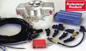 Throttle Body Professional Products 750 Cfm Powerjection 1 System With Billet - Machined Finish Photo Main