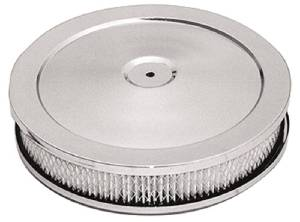 "Air Cleaner, Chrome 10"" X 2"" Muscle Car Style -Paper Element & Raised Base Photo Main"