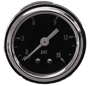 "Fuel Pressure Gauge (Mechanical). 1-1/2"" Diameter, 0-15 Psi Photo Main"