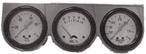 "Gauge Set. Chrome 2-5/8"" Triple Gauge Kit With Oil Pres., Voltage & Water Temp Photo Main"