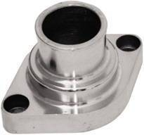 Thermostat Housing (Water Neck) Polished Aluminum Small Block Chevy O-Ring - straight up. Photo Main