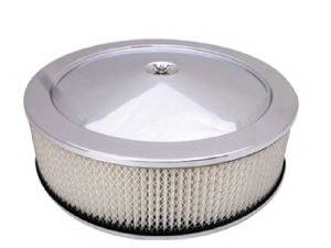 "Air Cleaner, Chrome 14"" X 4"" Muscle Car Style  -Paper Element & Flat Base Photo Main"