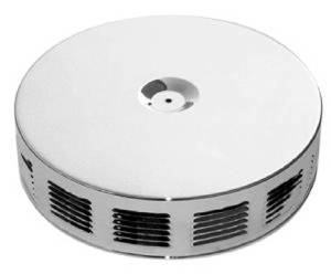 "Air Cleaner, Chrome 14"" X 3"" Louvered Style  -Paper Element & Off-Set Base Photo Main"