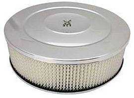 "Air Cleaner, Chrome 14"" X 4"" Performance Style  -Paper Element & Flat Base Photo Main"