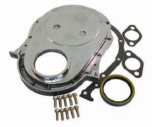 Timing Chain Cover Kit, Polished Aluminum BB Chevy (Includes Gaskets, Seal & Hardware) Photo Main