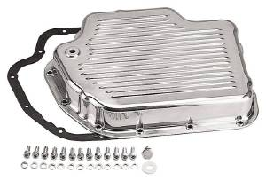 Transmission Pan Polished Aluminum GM Turbo 400  -Finned With Gasket (Includes Gasket & Hardware) Photo Main