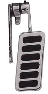 Gas Pedal, Chrome Steel Arm & Polished Aluminum Pad With 6 Rubber Inserts Photo Main