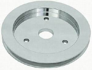 Crank Shaft Pulley - Polished Aluminum -Big Block Chevy, Single Groove (Shprt Water Pump) Photo Main