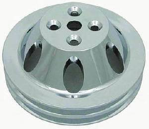Water Pump Pulley (Short Water Pump) Double Groove, Polished Aluminum Big Block Chevy  Photo Main