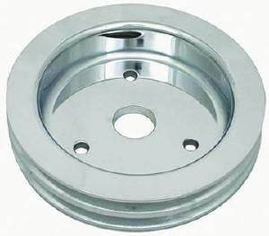 Crank Shaft Pulley - Polished Aluminum -Big Block Chevy, Double Groove (Short Water Pump) Photo Main
