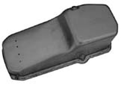 Oil Pan, 1980-85 Small Block Chevy 283,305,327,350,400 V8 -Unplated, Passenger Side Dipstick Photo Main