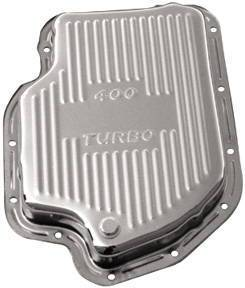 Transmission Pan Chrome Gm Turbo 400 -Finned Photo Main