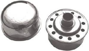 "Valve Cover Chrome Push-In Pcv Breather Cap - 2 3/4"" Diameter With 3/4"" Neck Photo Main"