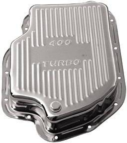 "Transmission Pan Chrome GM Turbo 400 -Finned & 3"" Deep (Adds 1 1/2 Qts) Photo Main"