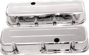 Valve Cover Chrome 1965-95 Chevy V8 396-502 Tall - Baffled (Includes Grommets) Photo Main