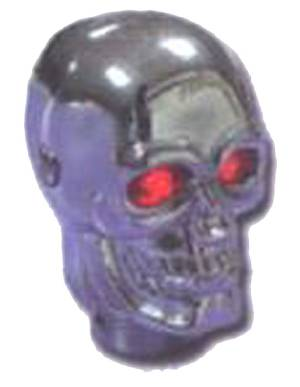 Shifter Knob -Chrome Skull With Led Eyes Red Photo Main