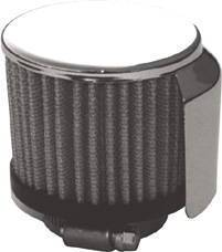 "Valve Cover Breather, Chrome Clamp-On Filter Style W/ Shield - 1 1/2"" Hole Photo Main"