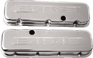 "Valve Cover Chrome 1965-95 Big Block Chevy 396-502 Short ""454"" C.i.d. Logo- Baffled (Includes Grommets) Photo Main"