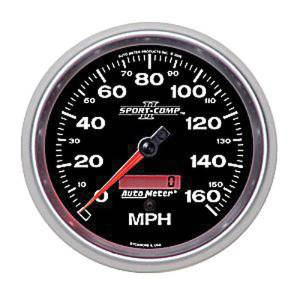 "Instrument Gauges - Auto Meter Sport Comp II 5"" Speedometer. Electronic Programmable, 0-160 Mph Photo Main"