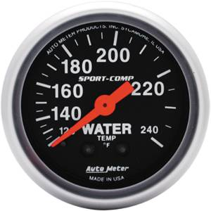 "Instrument Gauges - Auto Meter Sport Comp Series 2-1/16"" Temp Gauge. Mechanical 120-240 Deg., Full Sweep (12 Ft. Tubing) Photo Main"
