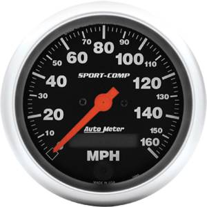 "Instrument Gauges - Auto Meter Sport Comp Series 3-3/8"" 0-160 Mhp Electronic/ Programmable Speedometer Photo Main"