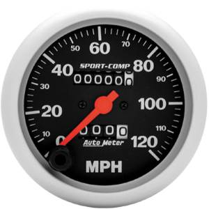 "Instrument Gauges - Auto Meter Sport Comp Series 3-3/8"" 0-120 Mhp Mechanical Speedometer Photo Main"