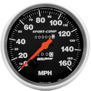 "Instrument Gauges - Auto Meter Sport Comp Series 5"" 0-160 Mhp Mechanical Speedometer Photo Main"