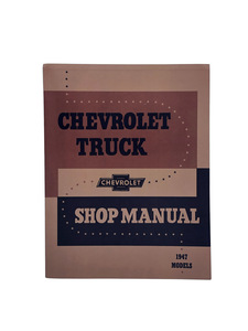 Shop Manual - Original 1947 Only! Photo Main