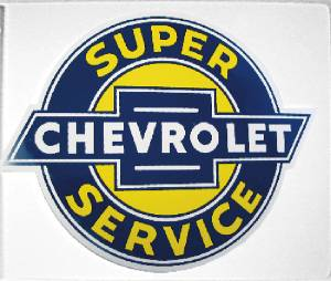 """Chevrolet"" Metal Sign, 12-1/2"" X 15-1/2"" Photo Main"