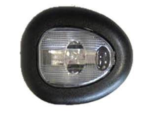 Interior Light -Single Dome, Universal With Black Bezel & Clear Lens Photo Main