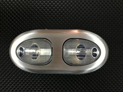 Interior Light -Oval, Double Dome, Universal With Satin Bezel & Clear Lens Photo Main
