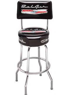 Bar Stool With Bel Air Logo -Swivel With Backrest Photo Main