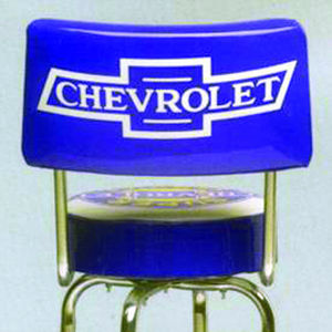 Bar Stool With Chevrolet Service Logo -Swivel With Backrest Photo Main
