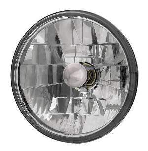Headlight, Clear Glass With Diamond Cut Reflector 12v 5-3/4 inch (Adjure) Photo Main