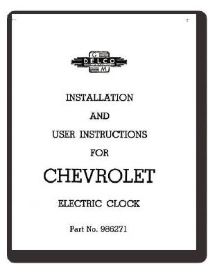 Clock, Electric - Instruction Card Photo Main