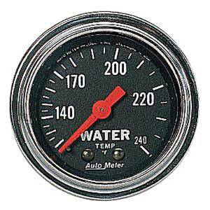 "Instrument Gauges - Auto Meter Traditional Chrome Series 2-1/16"" Temp Gauge. Mechanical 120-240 Deg., Full Sweep (6 Ft. Tubing) Photo Main"