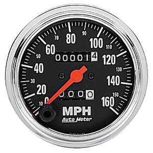 "Instrument Gauges - Auto Meter Traditional Chrome Series 3-3/8"" 0-160 Mph Mechanical Speedometer Photo Main"