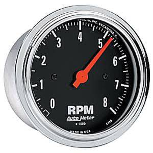"Instrument Gauges - Auto Meter Traditional Chrome Series 3-3/8"" 8,000 Rpm Tachometer Photo Main"