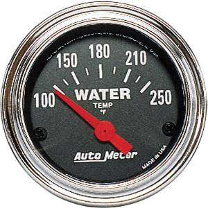 "Instrument Gauges - Auto Meter Traditional Chrome Series 2-1/16"" Temp Gauge. Electric 100-250 Deg., Short Sweep Photo Main"