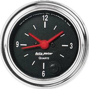 "Instrument Gauges - Auto Meter Traditional Chrome Series 2-1/16"" Electric Clock Photo Main"