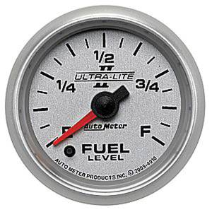 "Instrument Gauges - Auto Meter Ultra Lite Ii 2-1/16"" Fuel Level Gauge. Programmable Electric 0-280 Ohm, Full Sweep Photo Main"