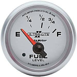 "Instrument Gauges - Auto Meter Ultra Lite Ii 2-1/16"" Ford Fuel Level Gauge. Electric 73-10 Ohm, Short Sweep Photo Main"