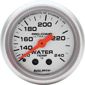 "Instrument Gauges - Auto Meter Ultra Lite Series 2-1/16"" Temp Gauge. Mechanical 120-240 Deg., Full Sweep (6 Ft. Tubing) Photo Main"