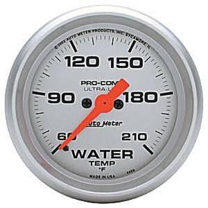 "Instrument Gauges - Auto Meter Ultra Lite Series 2-1/16"" Temp Gauge. Electric 60-210 Deg., Full Sweep Photo Main"